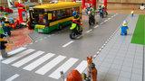 Speelmat voor LEGO City met bushalte en wegen
