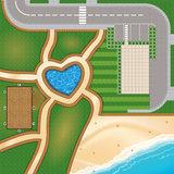 Speelmat voor LEGO Friends Heartlake